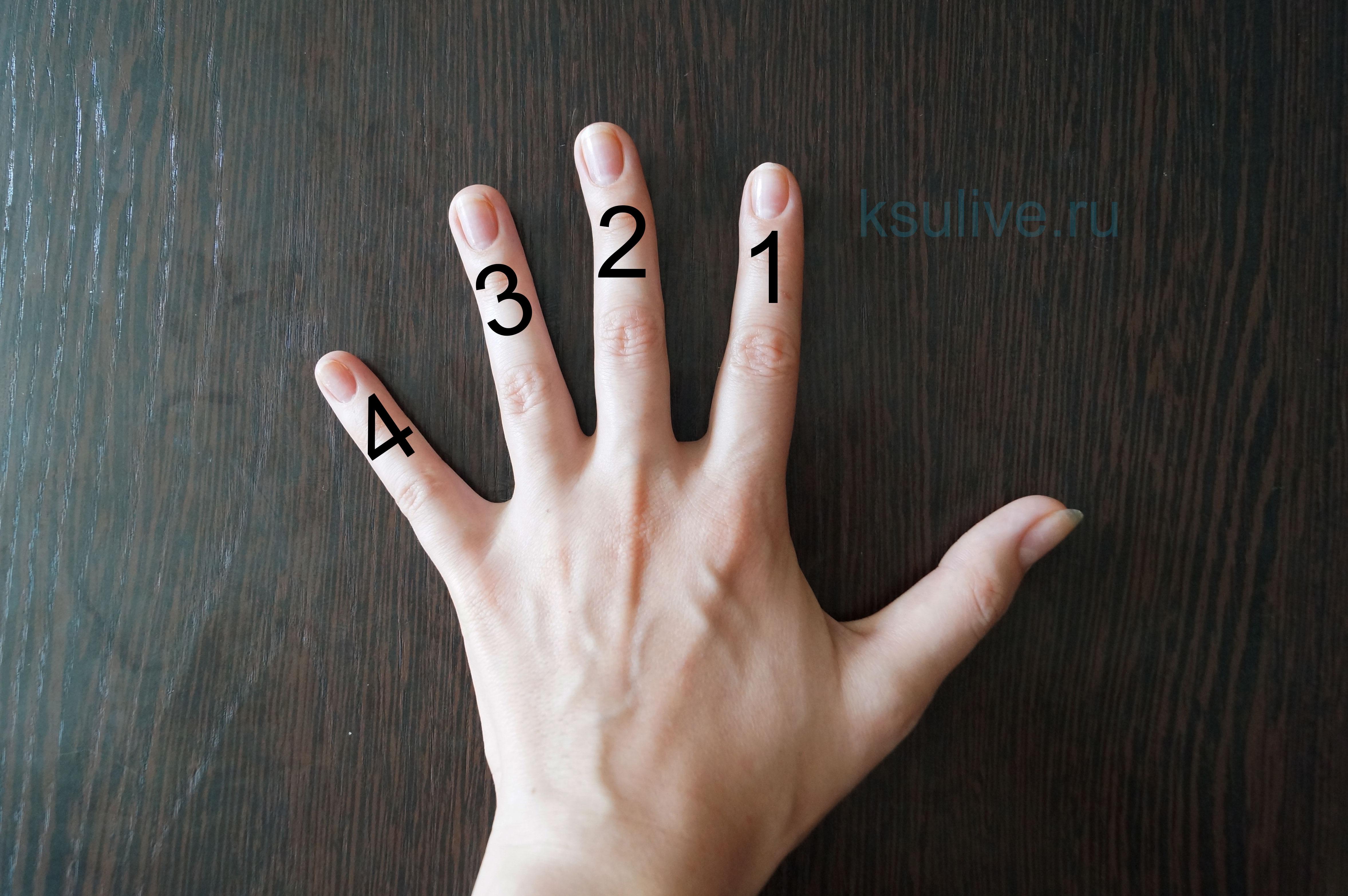нумерация пальцев левой руки для гитары