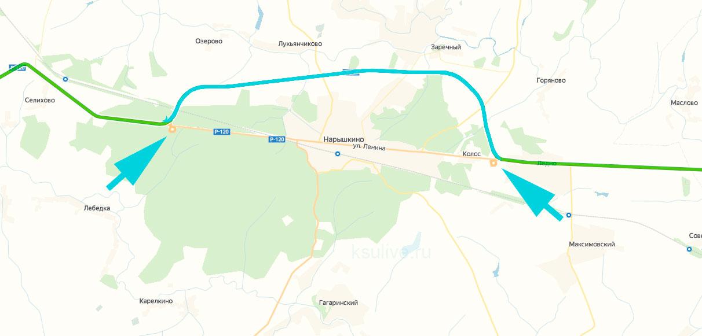 объездная на карте